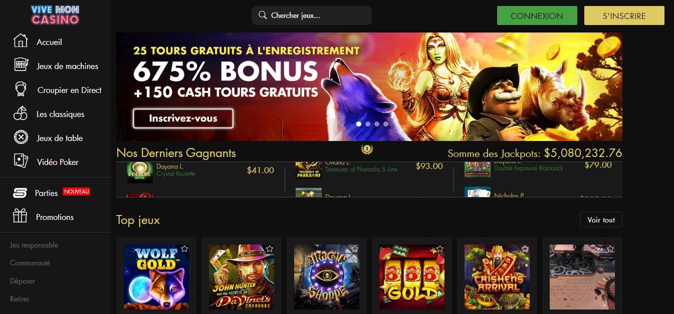 Avis casino Vive mon casino : casino sérieux ou arnaque ?