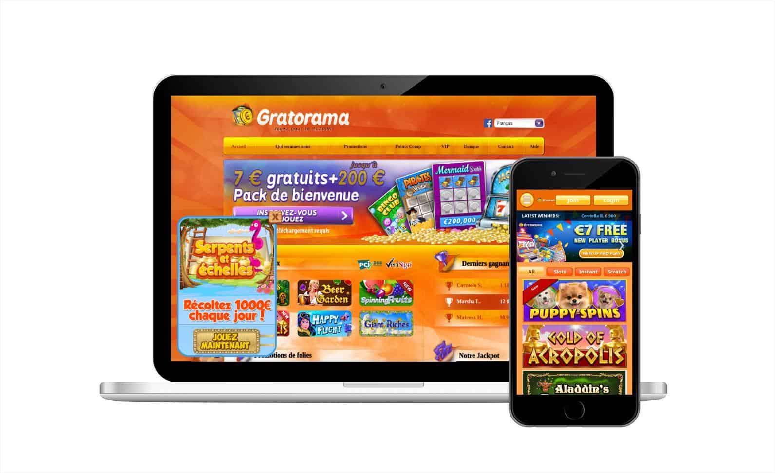 Notre avis sur Gratorama Casino pour vous aider à choisir le bon site de jeux de grattage